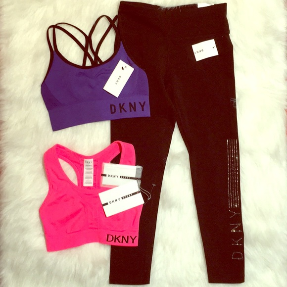 Dkny Pants - DKNY Sport set bundle leggings sports bras XS 3pcs